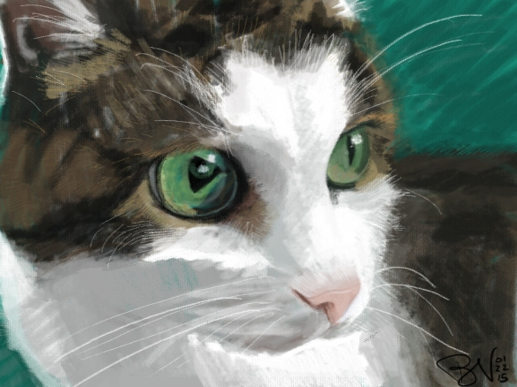 Snickers, 1996-2015. Digital painting in Photoshop with Wacom tablet.