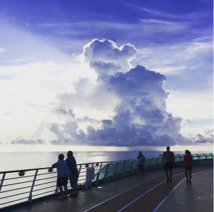 Rain off the coast of Cuba