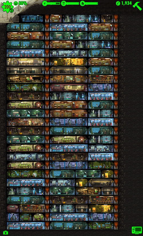 Fallout Shelter max