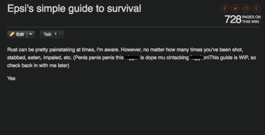 rust survival guide